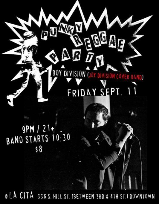 Boy Division - Joy Division Tribute at Echoplex