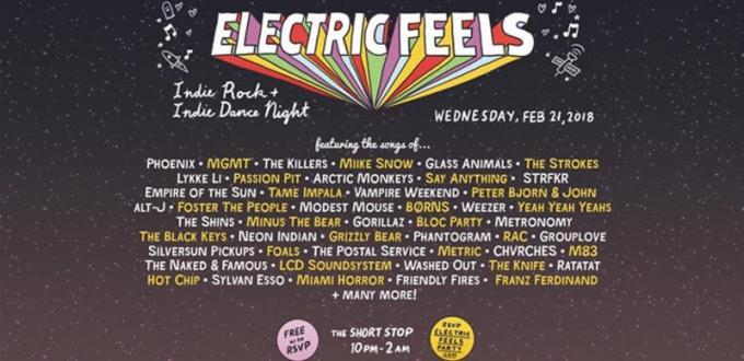 Electric Feels: Indie Rock & Indie Dance Night at Echoplex