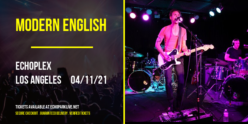 Modern English [POSTPONED] at Echoplex